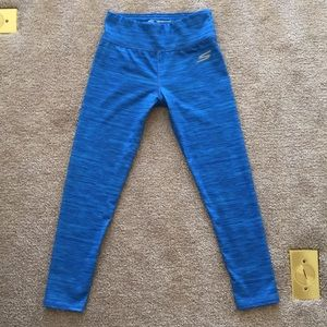 Girls Blue Sketchers Athletic Leggings